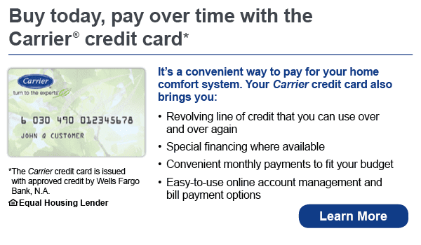Carrier credit card financing infographic